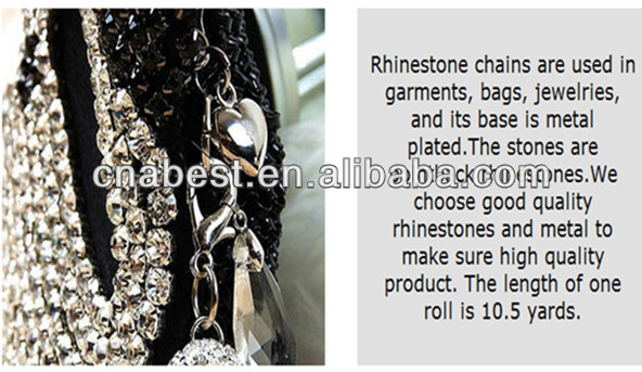 China manufacture cheap rhinestone cup chain