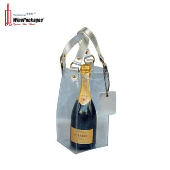 Clear PVC wine bottle gift packing bags