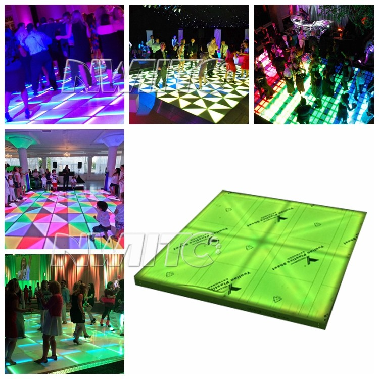 Rgb illuminated lighted floor tiles interactive led dance for Illuminated floor