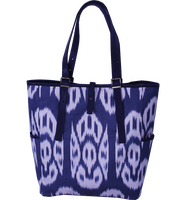 ikat Bag - Tote Bag - Brown Leather Bag - Chic Woman Bag