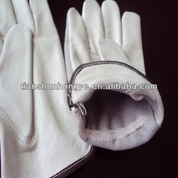 Driver cow grain leather working gloves