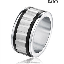 DAICY top quality punk men's stainless steel band gear ring