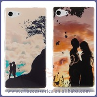 IMD Color Printing No Fading Color TPU Plastic Mobile Phone Case for Sony Xperia M M2 M4 M5
