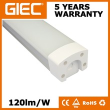 AC100-277V LED Batten 2ft 4ft 5ft 20W 40W 60W 80W IP65 LED Batten Light Fixture