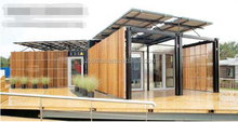 Simple economic sandwich panel flat pack container house/home
