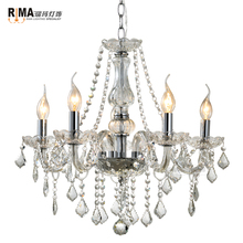 RM0313 factory price bedroom decorative plated color Modern crystal glass chandelier