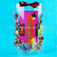 Transparent folding PET candy packaging box