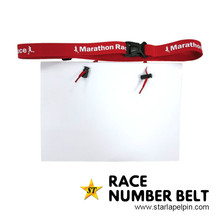 custom sport accessories number triathlon race belt