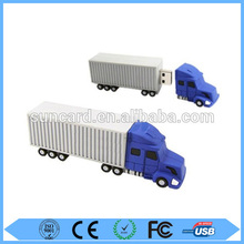 Custom OEM/ODM pvc truck shape usb flash drive 4gb