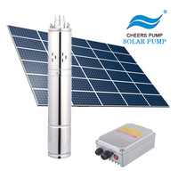 solar water pump deep well submersible pump 0.75 inch