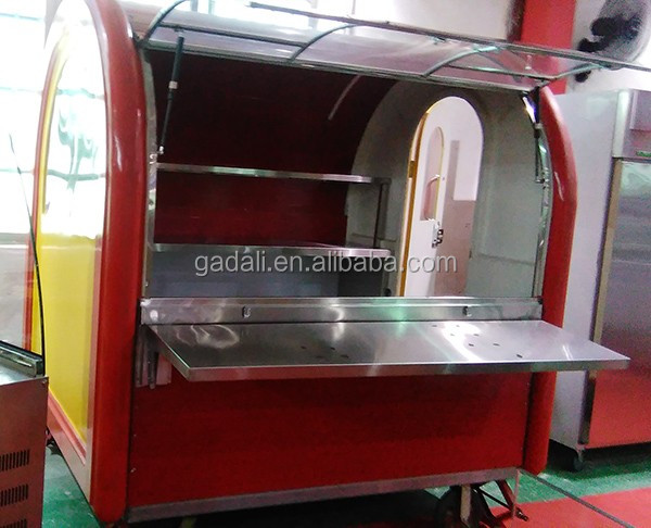 Newest designed commercial electric mobile fast food truck cart guangzhou for sale europe