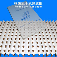 FRESH Folded paint spray booth filter media paper