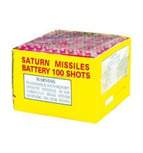 100 Shots Saturn Missiles K1130C12 Consumer Fireworks 1.4G new year Christmas decoration