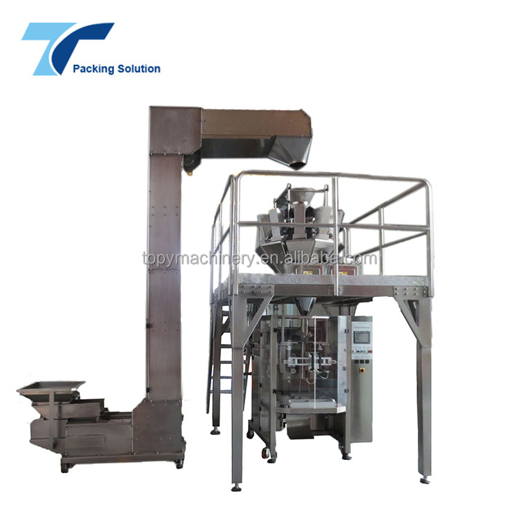 Foshan Factory Vertical Form Fill Seal Chips Apple Slice Packing Machine