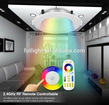 2.4g RF RGB multi-color ceiling led down light smartphone controlled wifi rgbw led downlight 12 watt with remote controlled