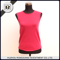 wool cashmere women vest for cold weather