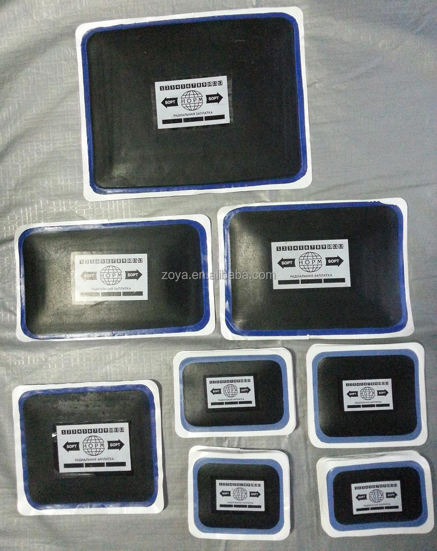 Square Euro Style COI Radial Tire Vulcanizing Rubber Patch For Tire