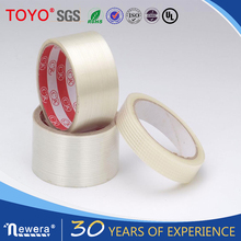 Reinforced adhesive fiber glass tape