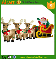2016 NEW inflatable Santa's Reindeer Round-up