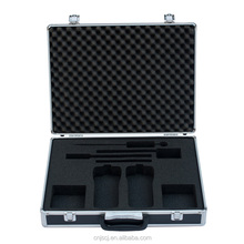 Black grooming tool case permanent protection aluminum tool case with foam inserts