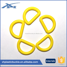 China Supplier Plastic Fashion D Rings For Bags Accessories