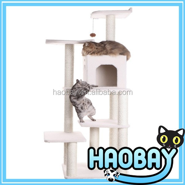 Simple Rattan Cat House Tree For Pets & Hand Made Cat Furniture