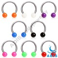 16 Gauge Circular Barbell Acrylic Ball Horseshoe Nose Ring
