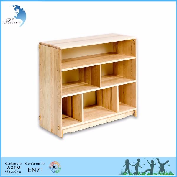 Estante de madera montessori ni os muebles material de for Libros de muebles de madera