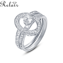 Anniversary Bands Jewellery Online Antique Design Cubic Zirconia 925 Sterling Silver Couple Ring Set