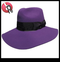 wool felt purple fedora hats