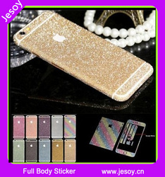 JESOY For Apple iPhone 6 6+ Cell Phone Glitter Decal Skins Sticker Cover