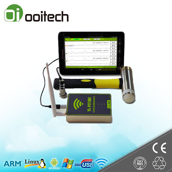 Non-destructive testing Wireless low strain pile integrity test