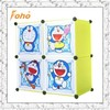 2015 newest cartoon design kids storage bin organizer with doors