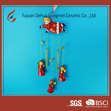 hanging gifts decoration ceramic angel wind chimes