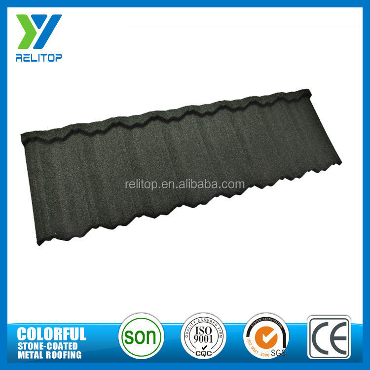 Stone chip coated modern design light weight pantile roof tiles