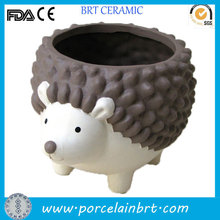 Custom design hedgehog shaped ceramic decorative animal flower pot
