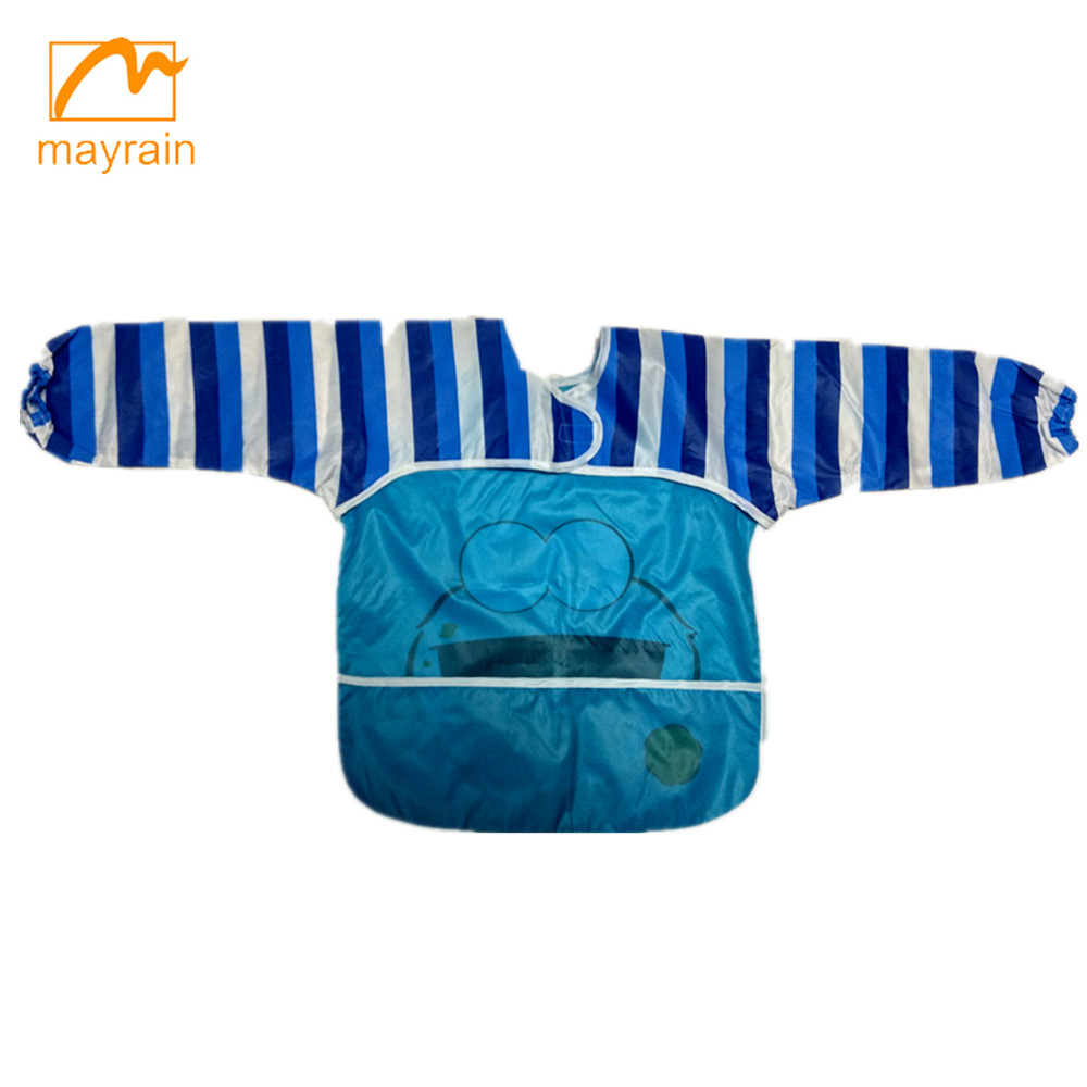 Quality custom cheap hot sales kids waterproof polyester apron/drawing apron