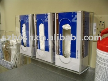 Wall Mounted Acrylic Gloves Box Dispenser