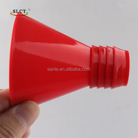 Red Tiny Plastic Threaded Oil Funnel