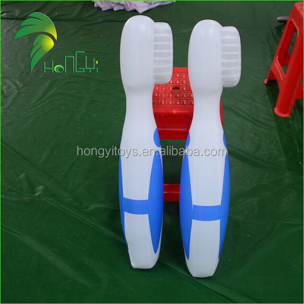 Customized Advertising Inflatable Toothbrush Model , PVC Durable Inflatable Toothbrush Balloon For Advertising
