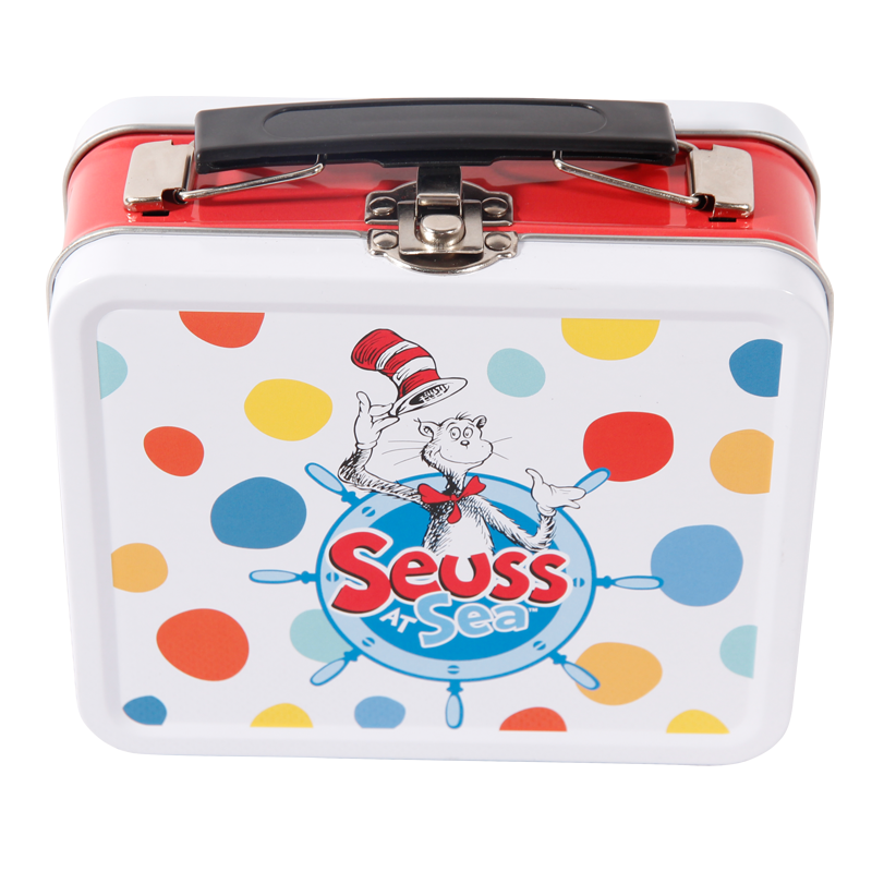 Container Type and Food Use Cartoon printing tin lunch box plain