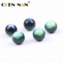 2017 Dubai popular 2-20mm murano green smooth paint glass beads