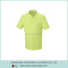 Fresh Styling 100% Polyester Jersey Men Golf Polo Shirt In Yellow