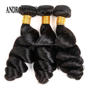 Hot Brazilian Hair Loose Weave 100% Virgin Human Hair Extensions Natural Black Color 1 Piece a lot