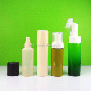 foam pump 150ml 200ml PET plastic bottle 120ml 150ml cosmetic bottle