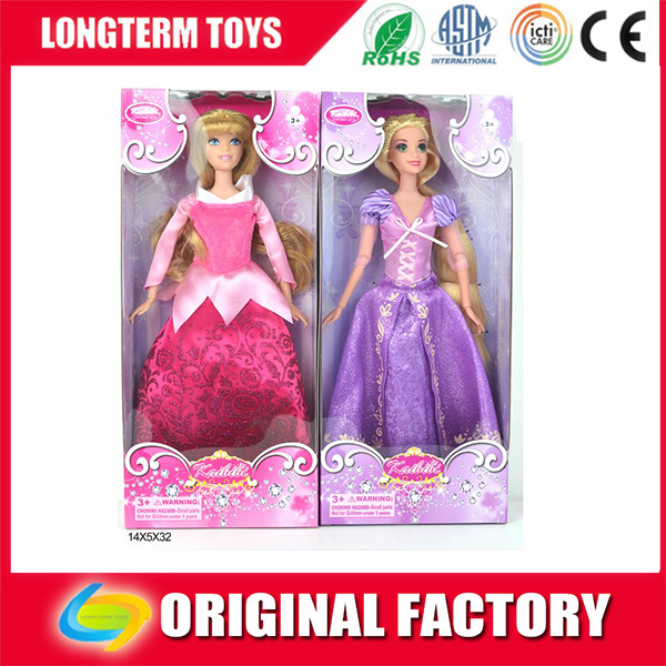 2016high quality fashion barbie doll (Cinderella)pretty princess dresses