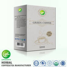 Lifeworth green instant white coffee flavor 100% natural organic with free label design