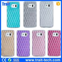 No MOQ Sparkling Diamond PC Back Case for Samsung Galaxy S6 Edge Plus G928