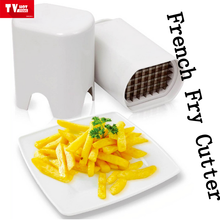 Amazon bestseller Simple Operated Food Grade Plastic French Fry Cutter, white Potato Chipper