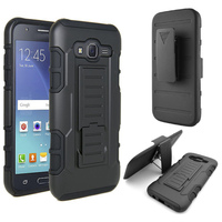 Hybrid TPU PC Shockproof Armor Belt Clip Holster Case For Samsung Galaxy J7